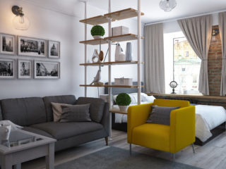 Квартира однокомнатная дизайн